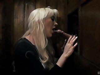 Blonde bombshell Valerie Fox in a fetish fuck scene at holy orders