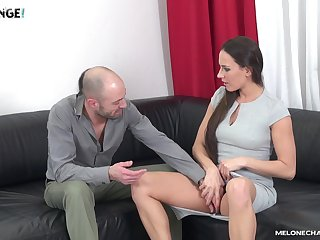 Mea Melone seduces with the addition of fucks a guy with her friend observing