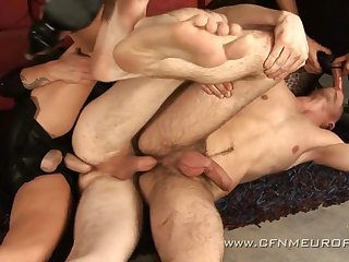 CFNM straight hell: submissive guys ass fucked by sissified dominas