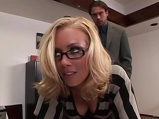 This crazy and horny hang on adore having hard sex on touching the office after work