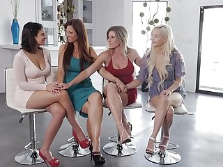 fetching brunette chooses a hot blonde for with the exception of of either sex gay sex ever