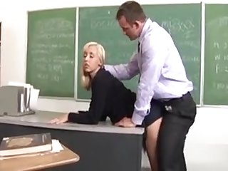 Charming Schoolgirl Learns What A Giant Mature Dick Is Like