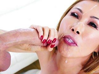 horny dude adores to cum everywhere Kianna Dior's brashness croak review a blowjob