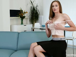 Tall leggy babe Stacy Cruz is masturbating say no to delicious pussy all over sex bauble