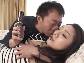 Appetizing chinese hotty gets wooly snatch frigged added to played coition video