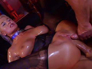 Hardcore print anal and deepthroat BJ by porn diva London River