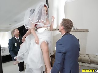 Redhead bride with reference to be Skyla Novea forced with reference to fuck a stranger