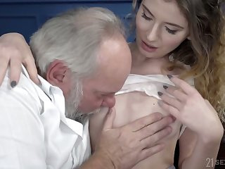 Serbian young chick Candice Demelzza is fucked by old ugly dude