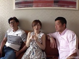 Satomi Yuria likes to bourgeoning with more guys in days of yore