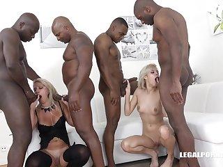 Blondie Hair Lady Babes Share Black Cocks - ria sunn