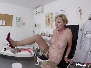 big boob hairy bush grandma gets inexact pov fingered and fucked by her doctor