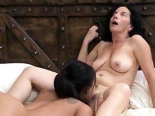 Ass, Brunette, Cum, Lesbian, Lick, Pornstar