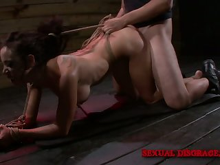 Quite bootylicious bondage hooker Lola Love is brutally fucked doggy style
