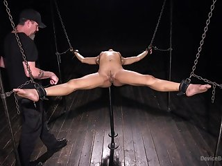 Astonishing and brave Kira Noir is ready for BDSM exprerience with a friend