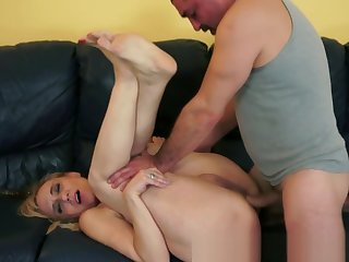 Assfucked granny gets dildoed in the asshole