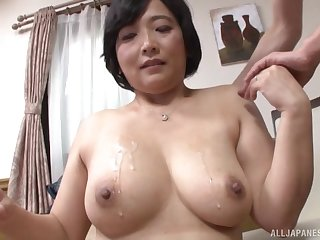 Toyokawa Mutsumi shows her massive tits fro the camera for the primary time