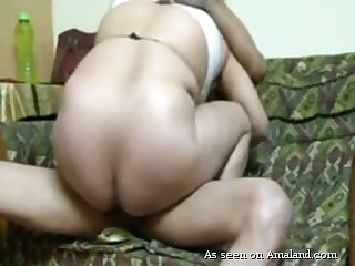 Dirty amateur Desi housewife with obese booty rides her hubby on apprise of