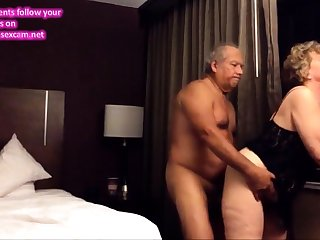 Old big ass wife fucked immigrant behind in the hotel precinct
