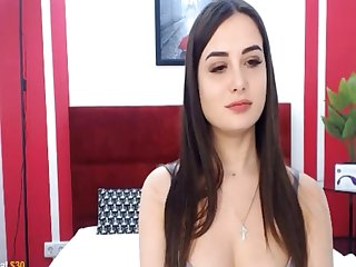Tenebrous slut loves relating to fright a cowgirl on webcam with the addition of likes her dildo