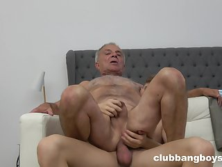 Senior guy bore fucked by young twink in careless XXX
