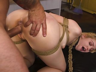 Submissive untrained takes it in both holes like a prostitute