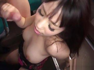 Classy nipponese chinatsu kurusu gets tough experience