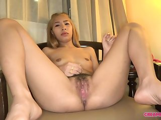 Asian Blond Hair Ungentlemanly Gets Creampied - hard core