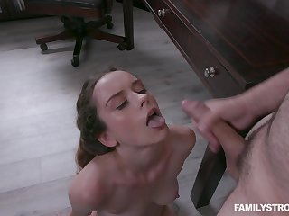 After some hard dicking, Lily Glee loves to get a prospect full of cum