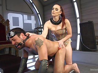 Bella Rossi spanking and pegging her man slave with a strapon