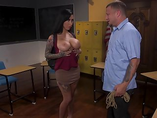 Sex-starved student Lily Lane is required up and face fucked by kinky teacher