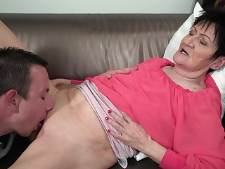Granny feels young nephew's dig up restorative her in satisfying modes