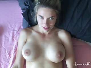 Classy Busty Babe becomes an Unclassy Slut in untrained POV porn