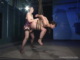 Lesbian torture and bdsm is good experience for horny Bobbi Starr
