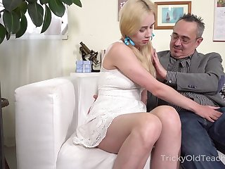 Old professor enjoys fucking young student with pigtails Effy Sweet