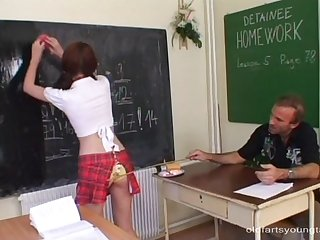 Dirty tutor makes sexy Martina an offer she can't refuse