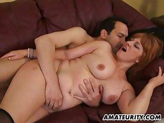 Bosomy Amateur Sex Wife Sucking And Fucks