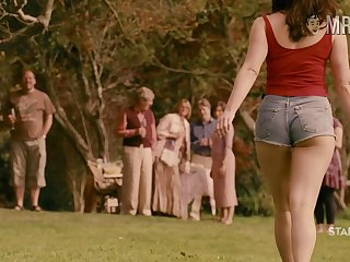 Curvy cinema star Gemma Arterton flashing the brush gut in a sexy compilation