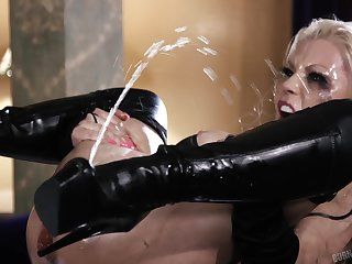 Squirt goddess Barbie Sins getting thoroughly fucked