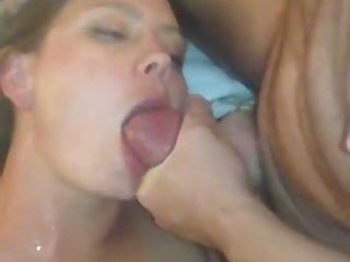 She has got quite an appetite and she loves having her face and body cum on