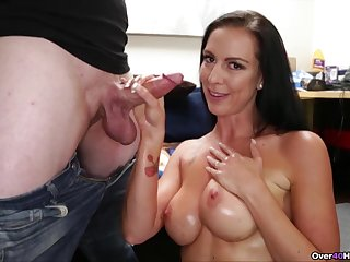 Blue botheration mature unshaded is hollow by son's big dick