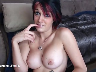 Shivering France A Poil - Busty Newborn Kenza Gets Banged And Fac