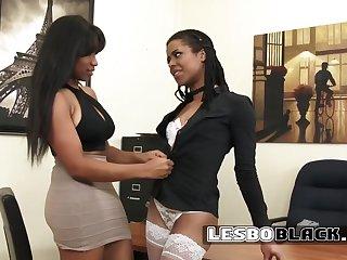Amateur, Big tits, Black, Black amateur, Black big tits, Ebony, Fingering, Lesbian, Lingerie, Tits