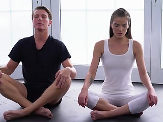 Yoga lesson drives both these lovers to insane fuck moments