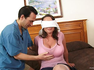 Blind-folded wife expectations her roguish accommodation billet gangbang