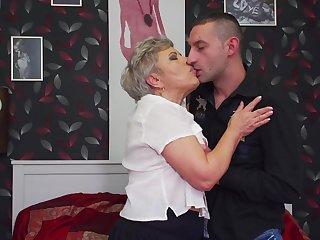 Granny fucks in crazy hardcore scenes