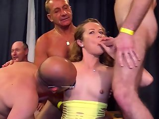 cute skinny stepsis first fuck party orgy