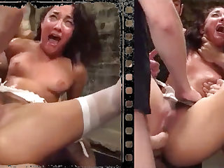 Dishevelled stunner plowed xxx with five consequential penises!