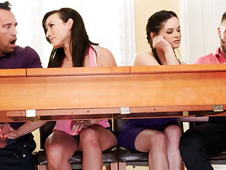 Fathers about foursome sexual congress with school girls